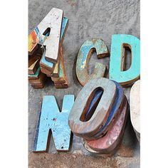 Another great find on Recycled Wood Letters by Warehouse 2120 Wood Letters, Letters And Numbers, Pick Up Sticks, Recycled Wood, Dorm Decorations, Sign Design, Rustic Wood, Diy Gifts, Recycling