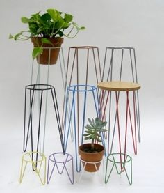 wire plant stand diy - Google Search