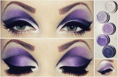 Try a dramatic purple cut crease eye! Make-up! Ursula Makeup, Maleficent Makeup, Malificent, Evil Queen Makeup, Drag Queen Makeup, Gothic Makeup, Eye Makeup, Beauty Makeup, Hair Beauty