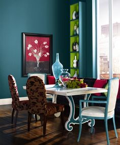 Pop luxe Olympic Color Trend- I would love to paint our bedroom this color