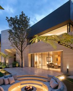 via heavywait - modern design architecture interior design home decor & Modern Exterior, Exterior Design, Interior And Exterior, Arch Interior, Interior Garden, Luxury Homes Dream Houses, Dream House Exterior, Mansions Homes, Magnolia Homes