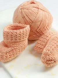Knitted Baby Booties...free pattern