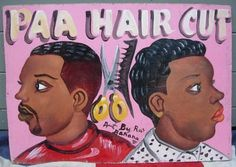 GHANA BARBER SHOP SIGN