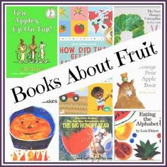 A list of scrumptious books about fruit, perfect for your toddler, preschooler, or early elementary aged child Sport Nutrition, Nutrition Education, Kids Nutrition, Nutrition Tips, Nutrition Activities, Nutrition Month, Nutrition Quotes, Healthy Nutrition, Healthy Food