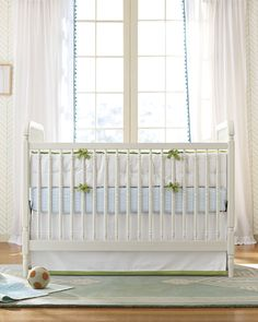 Use soft colors & textures to create a soothing haven for you and your little one | #serenaandlily #nursery