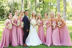 El color rosa para vestir a nuestras damas de honor