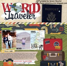 Project Ideas for Silhouette America - Cameo - Electronic Cutting System - 12 x 12 Cutting Mat Cruise Scrapbook Pages, Beach Scrapbook Layouts, Vacation Scrapbook, Scrapbook Layout Sketches, Scrapbook Titles, Scrapbooking Layouts, Digital Scrapbooking, Scrapbook Travel Album, Bridal Shower Scrapbook