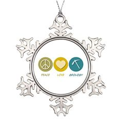 Tree Branch Decoration Peace Love Geology Santa Decorations -- This is an Amazon Affiliate link. Be sure to check out this awesome product.