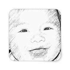Happy Baby Smiling Stickers