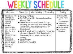 iTeach Fifth: 5th Grade Teaching Resources: Workshop Model Schedule
