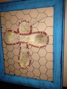 Baseball Cross Baseball Lovers Cross Home Decor by ShabbyWorks