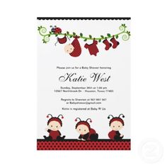 Lady Bug Baby Shower Invitation by LittleFairyLand