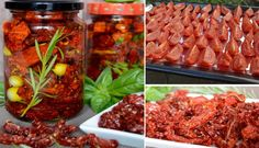 Home Dried Tomatoes Top Recipe NejRecept. Top Recipes, Dried Tomatoes, Preserves, Pickles, Salsa, Food And Drink, Beef, Homemade, Canning