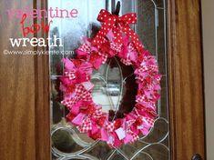 A pretty bow valentine wreath