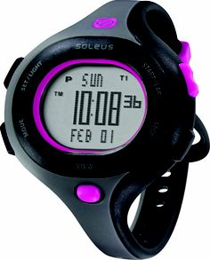 Soleus Running Watch - Chicked - Black / Dusk Gray / Super Pink