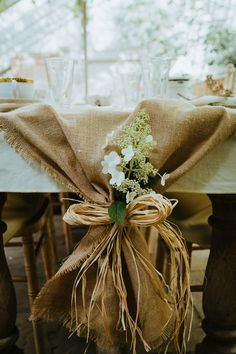 Micro Wedding in a Glass House at The Secret Garden Kent - Rustic Style Burlap Table Decorations, Wedding Decorations, Hessian Wedding, Rustic Wedding, Home Wedding, Wedding Table, Wedding Stuff, Wedding Ideas, Hessian Table Runner