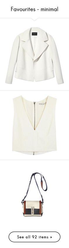 """Favourites - minimal"" by namelif1 on Polyvore featuring outerwear, jackets, blazers, blazer, coats, coats & jackets, lafayette 148 new york, white blazer, white jacket ve tops"