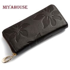 Item Type: WalletStyle: FashionWallet Length: LongGenuine Leather Type: Cow LeatherBrand Name: MIYAHOUSEGender: WomenWallets: Clutch WalletsLining Material: Pol