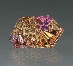 Ametrine Dreamscape™ with a really cool color pattern. 24.49cts  http://johndyergems.com