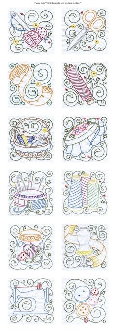 Machine Embroidery Designs - Sewing Blocks Set