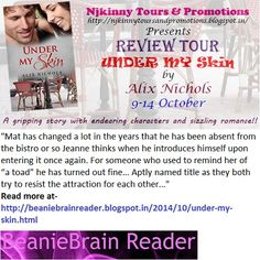 #BookReview + #Giveaway #UnderMySkin by @Aalix_Nichols on @SajMerrick's blog http://beaniebrainreader.blogspot.in/2014/10/under-my-skin.html Also Enter #Giveaway to win $15 Amazon GC, copies of the book! :)  #ReviewTour #Romance