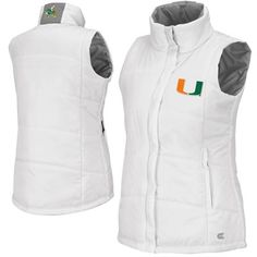 Miami Hurricanes Ladies Vortex Puffer Vest - White