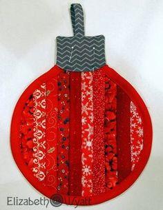 Elizabeth Wyatt Sewing Patterns: Stripey Christmas Ornament Hot Pad Tutorial