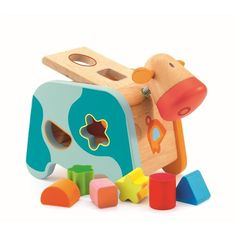 Djeco plug shapes: Cow Maggy