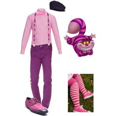 Disneybounding: Alice in Wonderland: Cheshire Cat, dapper by mkzvokel on Polyvore featuring Michael Bastian, Bruno Magli, Lock & Co Hatters, Disney, men's fashion and menswear