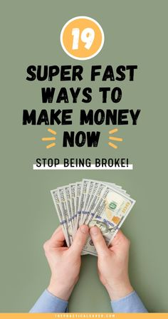 Need some extra cash in between paychecks? | The Practical Saver | Here are 19 super actionable ways to make money quick. These money tips can help get you out of a tight budget or from being completely broke. No need to create a side hustle for passive income, simply implement these brilliant finance extra cash money ideas to help pay off debt and save money now. #makemoney #savemoney #sidehustles Make Quick Money, Make Money From Home, Way To Make Money, Make Money Online, Earn More Money, Cash Money, Money Tips, I Need Money Now, Creating Passive Income