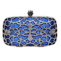 Crystal Lattice Clutches. With its delicate lace design and elegant shape, this dazzling clutch makes any outfit party-ready. Big enough to hold all the essentials for a night out, it's still small enough to keep stashed in your tote. $155.00