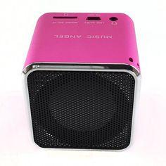 Mini Bluetooth speaker ORIGINAL music angel MD-06BT DIGITAL SPEAKER W/ BUILT IN FM RADIO& SD/TF CARD PINK //Price: $22.95 & FREE Shipping //     #hashtag1 Mini Bluetooth Speaker, Speakers, Original Music, Sd, Angel, Free Shipping, The Originals, Digital, Pink