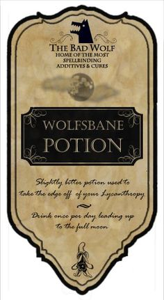 Potions labels