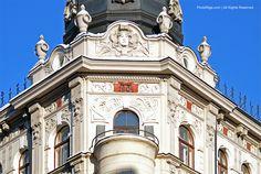 Art Nouveau balcony in Riga.