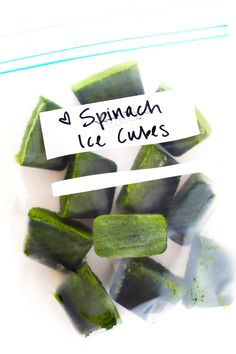 Learn to make Frozen Spinach Cubes for green smoothies with this quick and easy recipe! It's the perfect use for leftover spinach or any other favorite smoothie greens gimmesomeovencom Click the image for more info. Smoothie Prep, Easy Smoothies, Green Smoothie Recipes, Fruit Smoothies, Smoothie Cleanse, Energy Smoothies, Breakfast Smoothies, Juice Cleanse, Egg And Grapefruit Diet