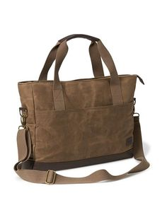 Waxed-Canvas Messenger Bag for Men Product Image