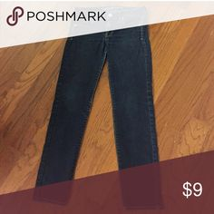 AE Skinny Super Stretch Jeans Dark blue AE super stretch skinny jeans. Some slight fading near knees and crotch area, and priced accordingly! 71% cotton, 14% rayon, 14% polyester, 1% spandex. Smoke free home! American Eagle Outfitters Pants Skinny