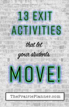 13 Movement-Based Exit Activities