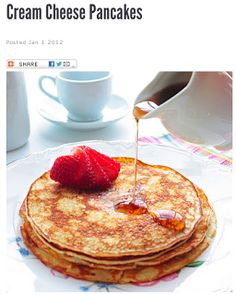 No carb pancakes...might want to try but I'm thinking that oat flour with carbs is still better than cream cheese...