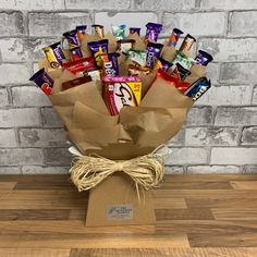 Gift Bouquet, Candy Bouquet, Gin And Tonic Gifts, Snack Box, Chocolate Gifts, Alternative, Gift Wrapping, Snacks, Paper