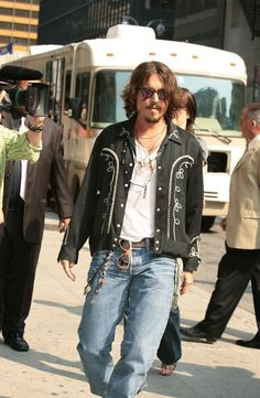 The Late Show with David Letterman, July 2006,Johnny Depp,Men's CELB style