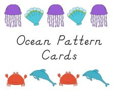 These cards are a fun way to practice or introduce AB patterning with students.Each card has a simple AB ocean pattern on it.  Students are asked to complete the pattern by placing the next animal for the pattern in the box.