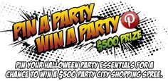 """""""Party City's Pin A Party Win A Party Contest""""  #partycity and #halloween"""