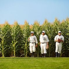 """Field of Dreams Movie Set -- This century-old farm in Dyersville (28 miles west of Dubuque, population 4,200) made movie history when it became the set of the 1989 baseball film starring Kevin Costner. Sit in the bleachers, run the bases or bat a few balls. The place still looks exactly like you remember from the film. On some summer Sundays, a team of """"ghosts"""" performs. (888) 875-8404.  http://fieldofdreamsmoviesite.com"""