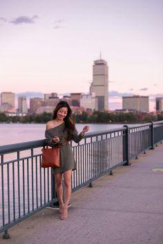 Boston Sunset // Off Shoulder Sweater (Dress) Season