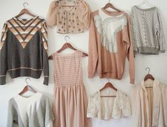 Neat patterns & pretty neutrals. where can i buy these clothes!?