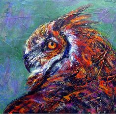 """""""Capturer of Souls"""" Acrylic painting by Rosemary G. Conroy FMI: http://www.studiobuteo.com"""