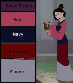 Mulan disneybound cheat sheet