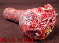 Zoombiez Pipe by Undead Ed Zombie Death Converted Hand Blown Glass Pipe OOAK