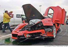 Smashed up Ferrari Enzo - Supercar crash http://supercarlegend.com/